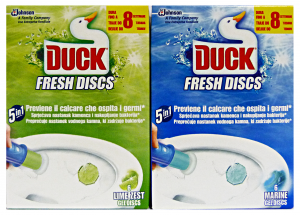 DUCK Fresh tav.wc discs base marine/lime - Tavolette WC + portascopini