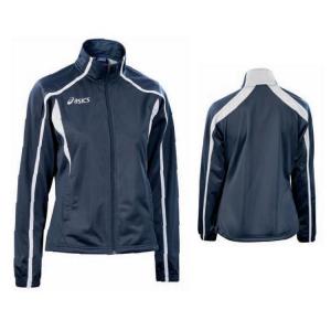 ASICS Giacca tuta sportiva donna full zip doppia tasca ARMONY blu bianco T770Z5