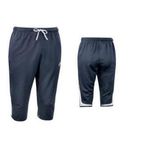 ASICS Pantaloni 3/4 sportivi uomo allenamento KNEE blu navy T610Z9