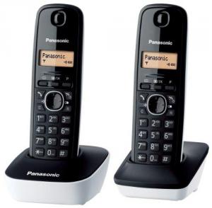 PANASONIC Kx-Tg1612Jtw 2Dect/R50/Idc Telefonia Fissa e Cordless