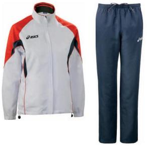 ASICS Tuta sportiva donna giacca + pantaloni AURORA bianco rosso T654Z5