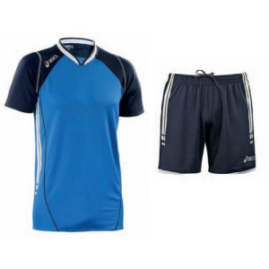 ASICS Kit pallavolo uomo t-shirt + shorts SPIKER blu royal blu navy T462Z1