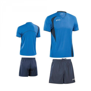 ASICS Kit pallavolo uomo t-shirt + shorts END blu royal blu navy T227Z1