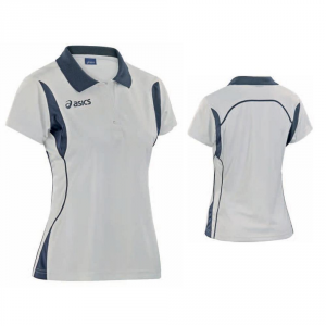 ASICS Polo maniche corte tennis donna SAMANTHA bianco blu navy T254Z7