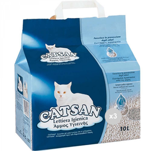 Set 3 CATSAN Lettiera gatti lt 10 igienica cura degli animali domestici