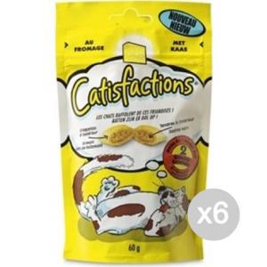 Set 6 CATISFACTION Croccantini Gr 60 Formaggio Cibo Per Gatti