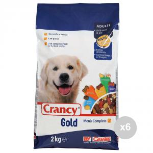 Set 6 CRANCY Cane gold croccantini kg 2 menu completo manzo pollo pesce cibo per cani