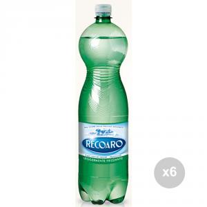 Set 6 RECOARO Acqua leggermente frizzante lt 1. 5 bevanda analcolica