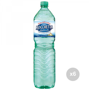Set 6 ROCCHETTA Acqua naturale lt 1. 5 bevanda analcolica