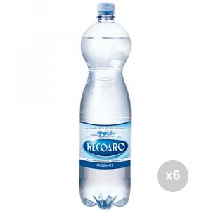 Set 6 RECOARO Acqua frizzante lt 1. 5 bevanda analcolica