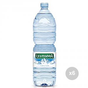 Set 6 LEVISSIMA Acqua naturale lt 1. 5 bevanda analcolica
