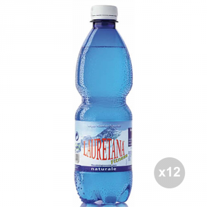 Set 12 LAURETANA Acqua naturale ml 500 bevanda analcolica