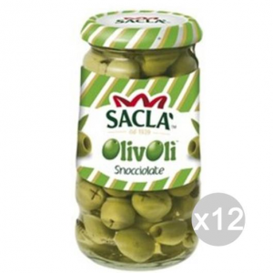 Set 12 SACLA' Olive Snocciolate Gr290 Cibi E Alimentari In Scatola