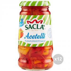 Set 12 SACLA' Peperoni fettucce gr 290 condimento