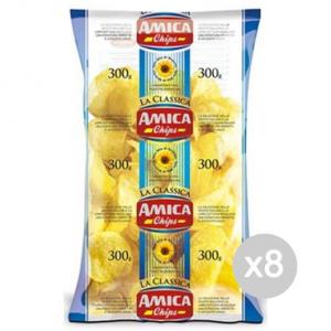Set 8 AMICA Chips Patatine Gr 300 Snack E Merenda Salata