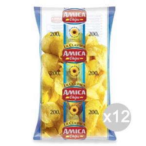 Set 12 AMICA Chips Patatine Gr 200 Classica Snack E Merenda Salata