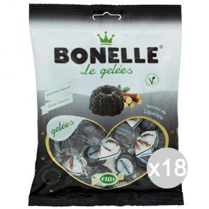 Set 18 BONELLE Caramelle Fida Gelee Liquiriz. Gr 160 Dolci E Alimentari