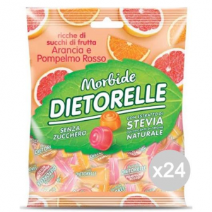 Set 24 DIETORELLE Caramelle Aranc/Pompelmo Gr 70 Dolci E Alimentari