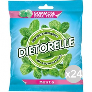Set 24 DIETORELLE Caramelle Menta Gr 70 Dolci E Alimentari