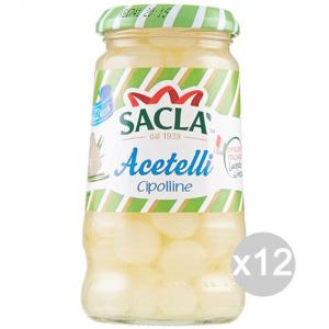 Set 12 SACLA' Cipolline Aceto Gr 300 Cibi E Alimentari