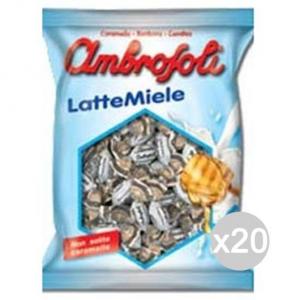 Set 20 AMBROSOLI Caramelle Latte Miele Gr 135 Dolci E Alimentari