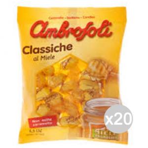 Set 20 AMBROSOLI Caramelle Miele Gr 135 Dolci E Alimentari