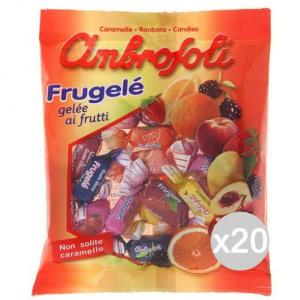 Set 20 AMBROSOLI Caramelle Gelee Frutta Gr 150 Dolci E Alimentari