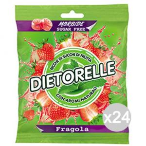 Set 24 DIETORELLE Caramelle Fragola Gr 70 Dolci E Alimentari
