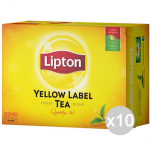 Set 10 LIPTON The 60 Filtri Gr 90 Bevanda Bibita Analcolica