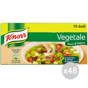 Set 48 KNORR Dadi Vegetale 10 Cubi Per Preparazione Del Brodo
