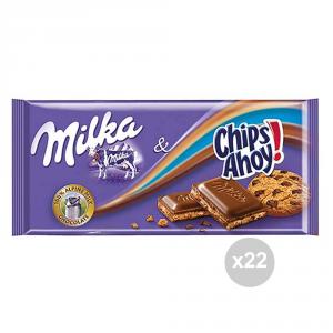 Set 22 MILKA Cioccolata tavoletta chips ahoy gr. 100 4044772 snack dolce