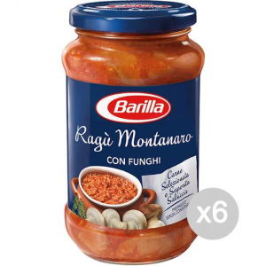 Set 6 BARILLA Sugo Montanara Gr 400 Condimento Per Pasta