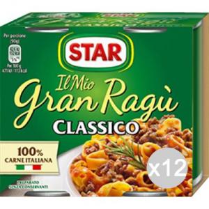 Set 12 STAR Sugo Gran Ragu 180X2 Carne Condimento Per Pasta