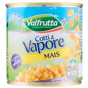 VALFRUTTA Mais cotto a vaporegr 326 in latta condimento per insalata