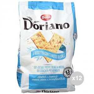 Set 12 DORIA Crackers sacco non salati azzurro gr 700 snack salato
