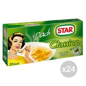 Set 24 STAR Dadi Classico 20 Cubi Per Preparazione Del Brodo