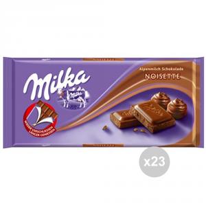 Set 23 MILKA Cioccolata tavoletta noisette gr. 100 4045896 snack dolce