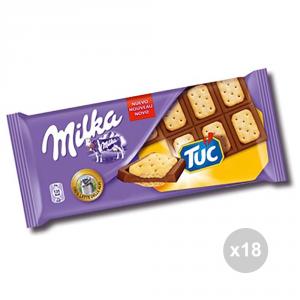 Set 18 MILKA Cioccolata tavoletta tuc gr. 87 4013781 snack dolce
