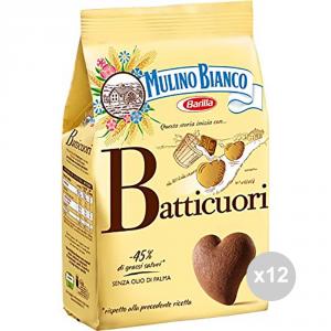 Set 12 MULINO BIANCO Biscotti batticuori gr 350 snack dolce