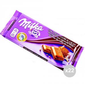 Set 22 CUORE Cioccolata tavoletta tenero cuore al cacao gr. 100 4045895 snack dolce