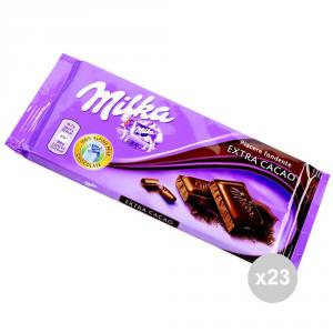 Set 23 MILKA Cioccolata tavoletta extra cacao gr. 100 4045894 snack dolce