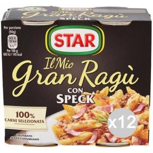 Set 12 STAR Sugo Gran Ragu 180X2 Speck Condimento Per Pasta