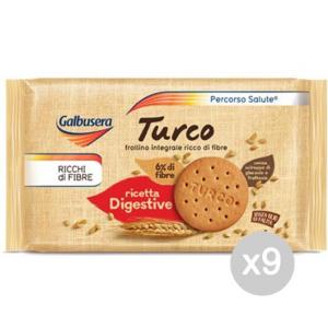 Set 9 GALBUSERA Biscotti Turco Gr.400 Per Colazione E Merenda