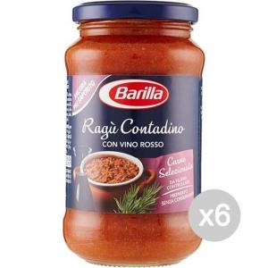 Set 6 BARILLA Sugo Contadina Gr 400 Condimento Per Pasta