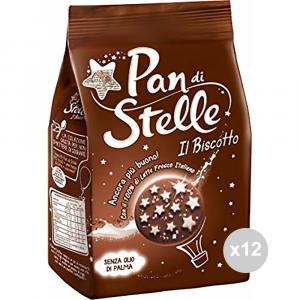 Set 12 MULINO BIANCO Biscotti pan di stelle gr 350 snack dolce