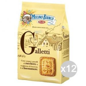 Set 12 MULINO BIANCO Biscotti Galletti Gr 350 Per Colazione E Merenda