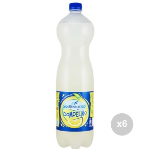 Set 6 SAN BENEDETTO Pompelmo lt 1. 5 bottiglia bevanda analcolica per feste