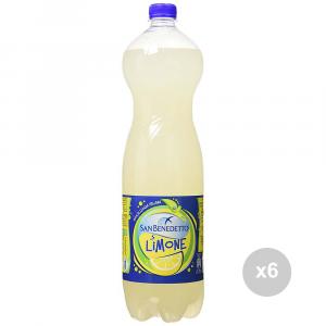 Set 6 SAN BENEDETTO Limonata lt 1. 5 bottiglia bevanda analcolica per feste