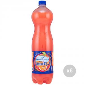 Set 6 SAN BENEDETTO Sanguinella lt 1. 5 bottiglia bevanda analcolica per feste