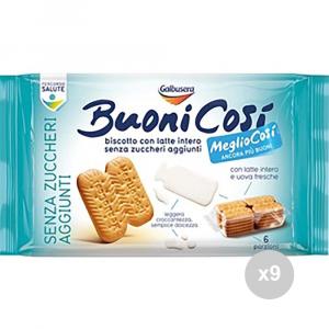 Set 9 GALBUSERA Biscotti buoni così gr330 frollini classici snack dolce